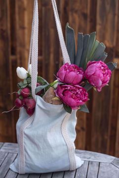 Lněná stylová taška
