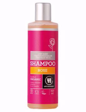 Urtekram šampon růžový - suché vlasy 250ml
