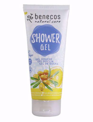 Benecos Sprchový gel rakytník a pomeranč 30ml