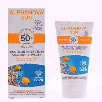 Alphanova Opalovací krém na obličej SPF 50+ 50g