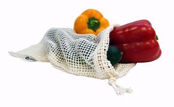 Casa Organica Síťový sáček na z biobavlny na ovoce a zeleninu - malý (30 x 20cm)
