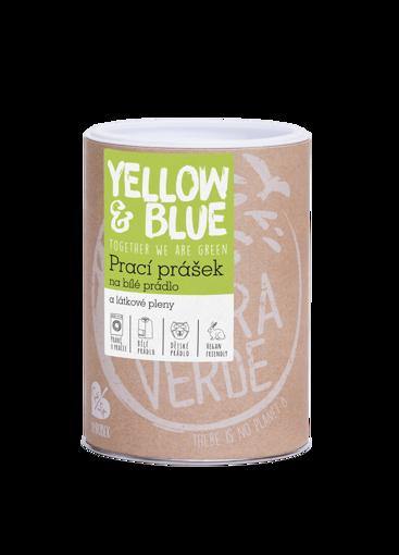 Yellow & Blue Prací prášek z mýdlových ořechů na bílé prádlo a pleny 850g dóza