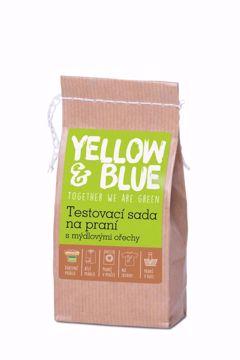 Yellow & Blue Sada testovací na praní s mýdlovými ořechy