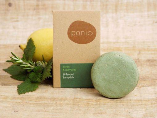 Ponio tuhý šampon kopřivový - Citron a Rozmarýn 60g