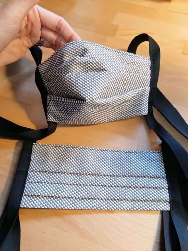 Obrázek z Rouška 100% bavlna 1-vrstvá - šedý vzor