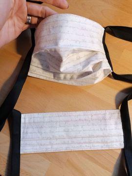Obrázek Rouška 100% bavlna 1-vrstvá - béžové písmo