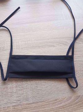 Obrázek Rouška bavlna/polyester 1-vrstvá černá