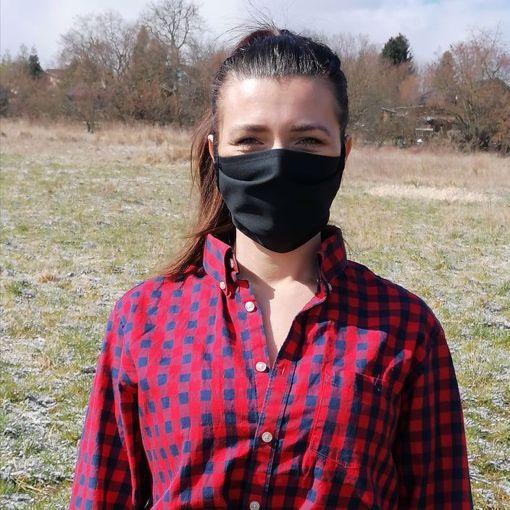 Obrázek z Rouška bavlna/polyester 1-vrstvá - černá