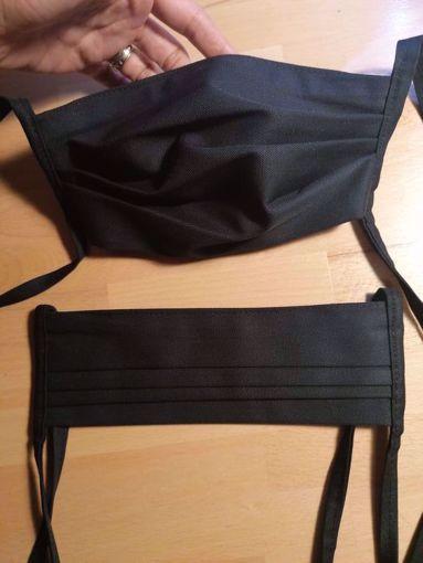 Rouška bavlna/polyester 2-vrstvá s kapsou na filtr - černá