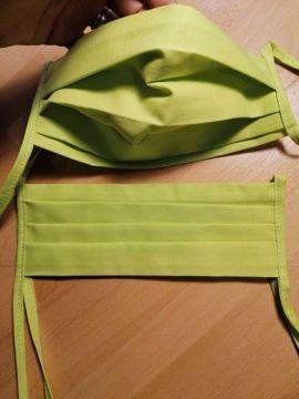 Rouška 100% bavlna 2-vrstvá s kapsou na filtr - zelenkavá