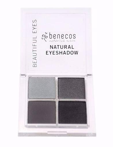Benecos Oční stíny 4paletka - smokey eyes BIO, VEG 7,2g