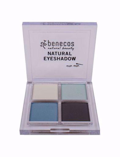 Benecos Oční stíny 4paletka - true blue BIO, VEG 7,2g