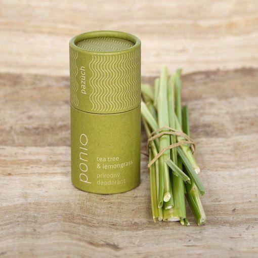Ponio přírodní deodorant - Tea tree a Lemongras 65g