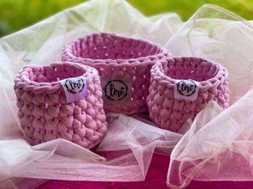 Sada košíčků - mini růžová