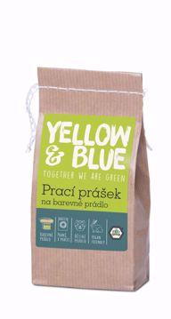 Yellow & Blue Prací prášek z mýdlových ořechů na barevné prádlo 250g papírový sáček