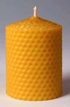 Svíčka ze včelího vosku Pleva, šíře 70mm