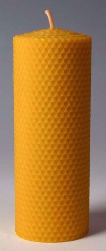 Svíčka ze včelího vosku Pleva, šíře 70mm, výška 200mm