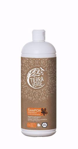 Obrázek z Tierra Verde Kaštanový šampon pro posílení vlasů s vůní pomeranče 1 l