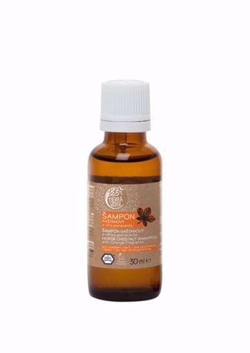 Obrázek z Tierra Verde Kaštanový šampon pro posílení vlasů s vůní pomeranče 30 ml
