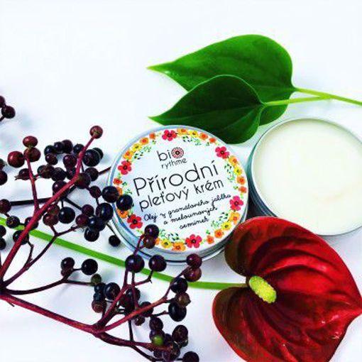 Obrázek z Biorythme Přírodní krém pro citlivou pleť - Olej z granátového jablka a melounových semínek
