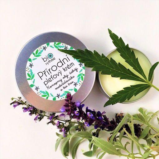 """Obrázek z Biorythme Přírodní pleťový krém """"Anti-pupínek"""" - Konopný olej, šalvěj, mateřídouška a tea tree, XL verze (60 ml)"""