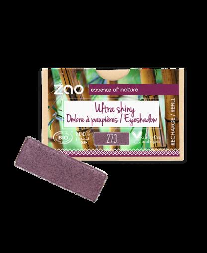 Obrázek z ZAO  Obdélníkový oční stín Ultra lesklý 273 Purple rain - náplň