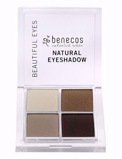 Obrázek z Benecos Oční stíny 4paletka - coffee & cream BIO, VEG