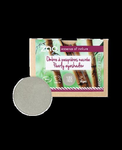 Obrázek z ZAO Perleťový oční stín 108 Pearly Grey Green - náplň