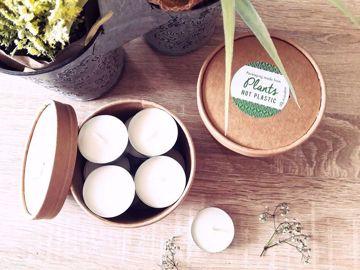 Obrázek Soyovky SÓJOVÉ Čajové svíčky v kompostovatelném obalu - náplně, 10 ks