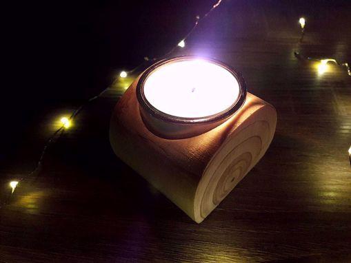 Obrázek z Soyovky dřevěný svícen - MALÝ
