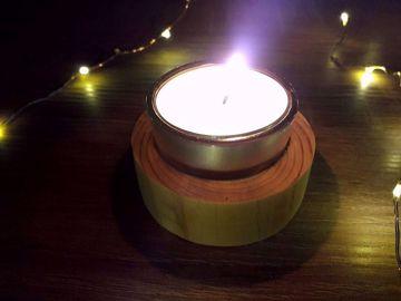 Obrázek Soyovky dřevěný svícen - MINI