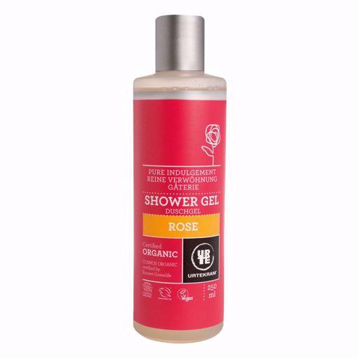 URTEKRAM Sprchový gel růžový 250ml BIO