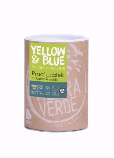 Yellow & Blue Prací prášek z mýdlových ořechů na barevné prádlo dóza 850g