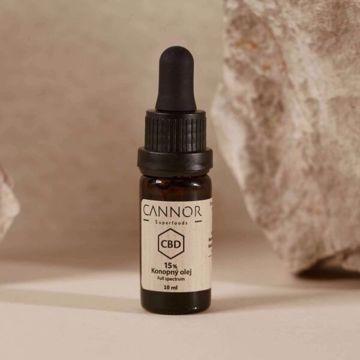 Cannor CBD Konopný olej celospektrální 15% 10 ml