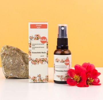 Obrázek Kvitok Organická Květinová Voda - damašská Růže 30ml