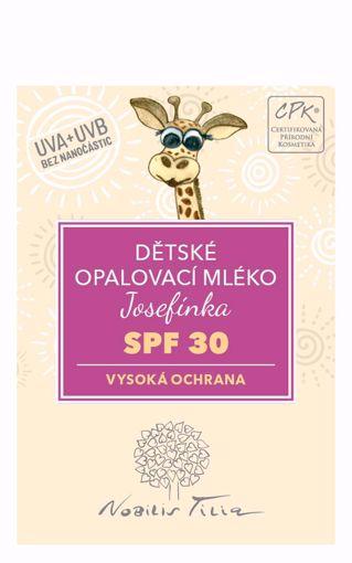Obrázek z Nobilis Tilia VZOREK Dětské opalovací mléko Josefínka SPF 30, 3 ml