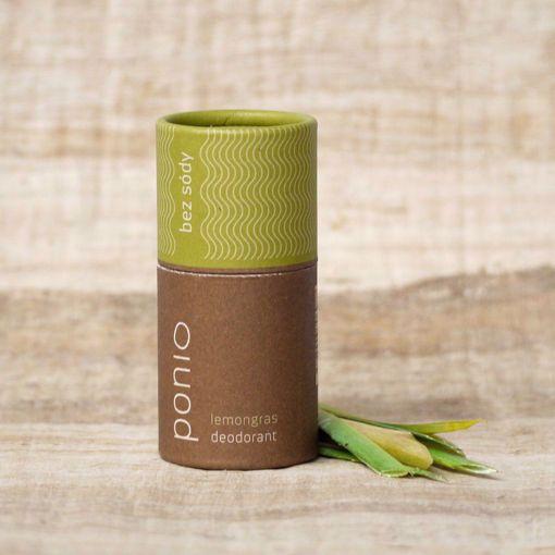 Ponio přírodní deodorant - Lemongras 65g bez sody