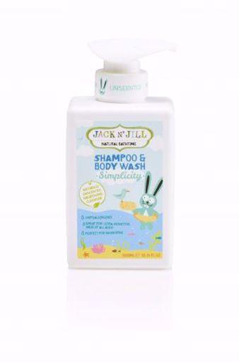 Obrázek z Jack N 'Jill Sprchový gel a šampon NATURAL BATHTIME SIMPLICITY