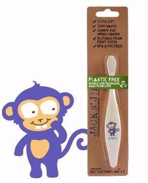 Obrázek Jack N 'Jill Dětský zubní kartáček OPICE extra měkký