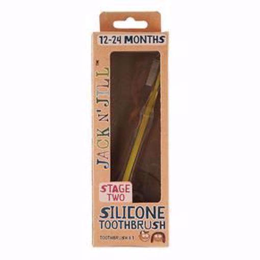 Obrázek z Jack N 'Jill Silikonový zubní kartáček s bezpečnostním štítem